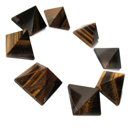 Tiger Eye Gemstone Pyramid